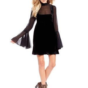Free People Counting Stars Bell Sleeve Dress L